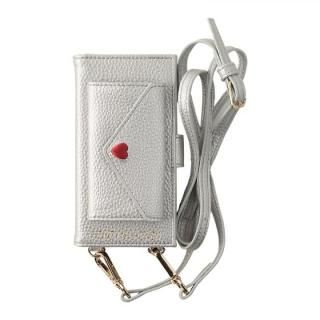HONEY MI HONEY LETTER BOOK ポケット付手帳型ケース シルバー iPhone 8/7/6s/6