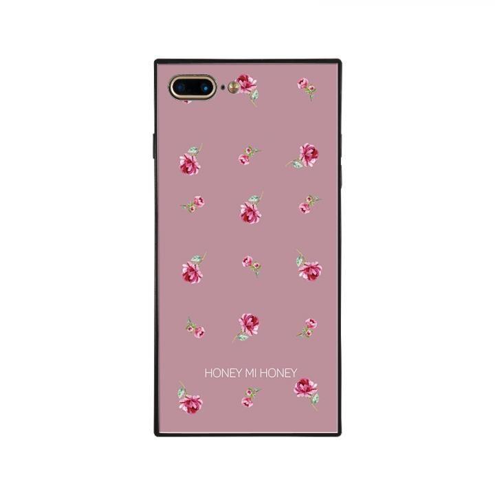 iPhone8 Plus/7 Plus ケース HONEY MI HONEY スクエア型 ガラスケース PINK ROSE PINK iPhone 8 Plus/7 Plus_0