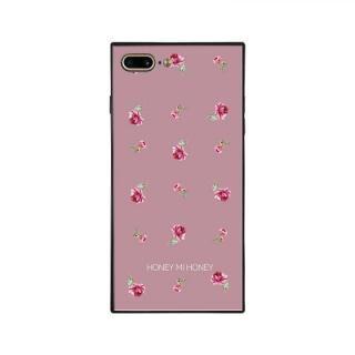 iPhone8 Plus/7 Plus ケース HONEY MI HONEY スクエア型 ガラスケース PINK ROSE PINK iPhone 8 Plus/7 Plus