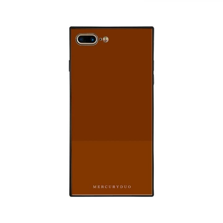iPhone8 Plus/7 Plus ケース MERCURYDUO BI COLOR 背面ガラスケース CHOCOLATE iPhone 8 Plus/7 Plus【9月上旬】_0