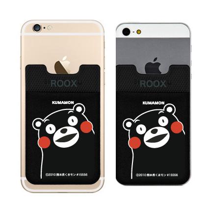 【iPhone6/6 Plusケース】スマホにポケット Sinji Pouch くまモンバージョン ブラック_0