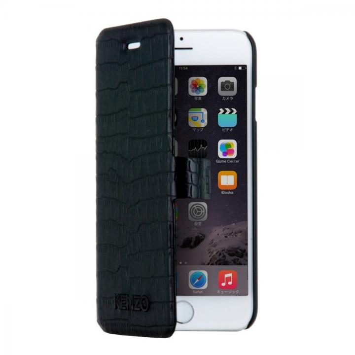 KENZO クロコダイル調手帳型ケース ブラック iPhone 6