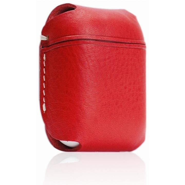 AirPods専用 Minerva Box Leather Case レッド