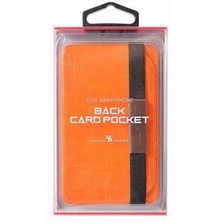 Back Card Pocket バックカードポケット オレンジ_4