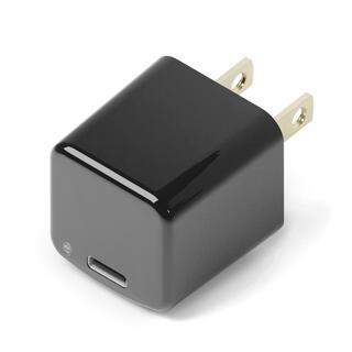 mini電源アダプタ USB-Cポート ブラック