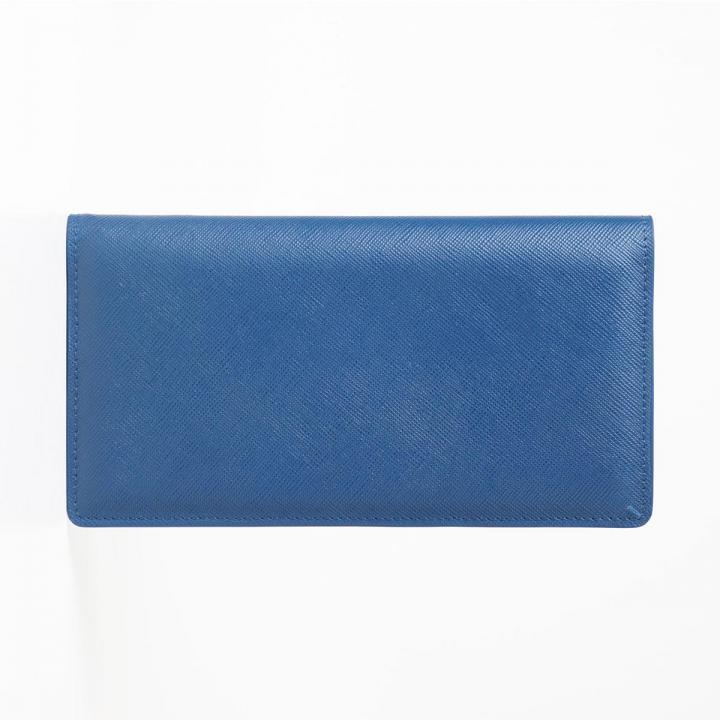 [3000mAh]Stockan 長財布モバイルバッテリー ブルーサフィアーノ