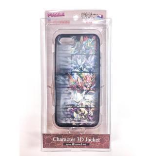 【iPhone SE/5s/5】 パズドラ 3Dキャラケース 魔剣士_黒 ※シート2枚付