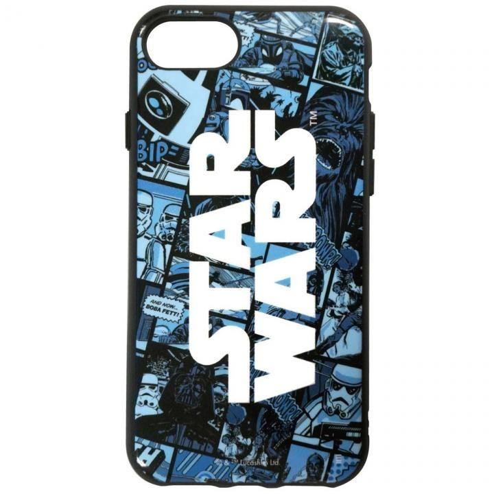 【iPhone8/7/6s/6ケース】STAR WARS IIII fitR コミック・ブルー iPhone 8/7/6s/6_0