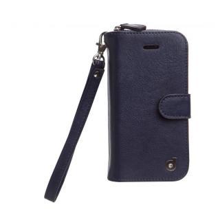 お財布付き手帳型ケース Zipper ネイビー iPhone SE/5s/5ケース