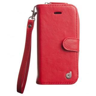 お財布付きダイアリー手帳型ケース Zipper レッド iPhone SE/5s/5ケース