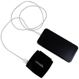[4200mAh]rienda×コンパクトモバイルバッテリー 「COSMETICK」 マットブラック_3