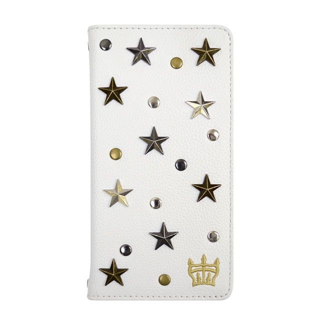 iPhone8/7/6s/6 ケース RODEO CROWNS スタースタッズ 手帳型ケース ホワイト iPhone 8/7/6s/6_0