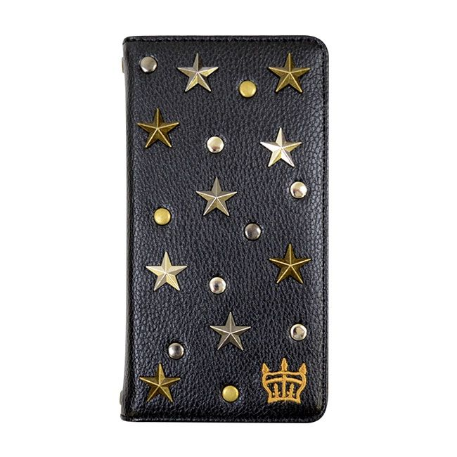 RODEOCROWNS スタースタッズ 手帳型ケース ブラック iPhone 8/7/6s/6