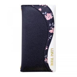 iPhone SE 第2世代 ケース ROYALPARTY WAVE 手帳型ケース ブラック iPhone SE 第2世代/8/7/6s/6