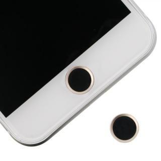 ホームボタンシール Touch ID対応 ブラック/ゴールド