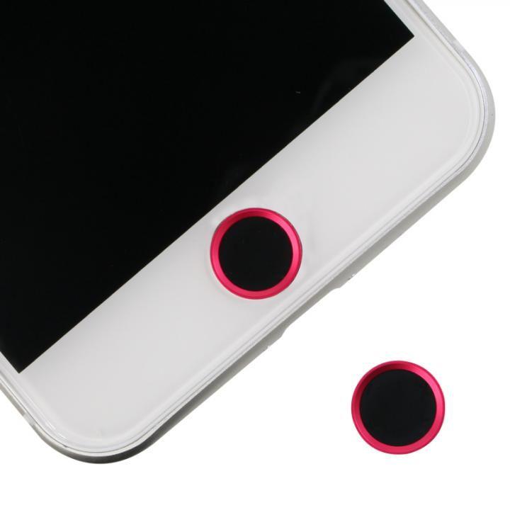 ホームボタンシール Touch ID対応 ブラック/レッド