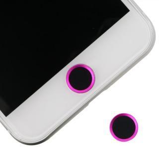 ホームボタンシール Touch ID対応 ブラック/ピンク