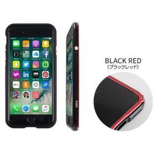 【iPhone7ケース】アルミバンパー/背面クリアケース Razor Fit ブラックレッド iPhone 7