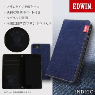 iPhone8/7/6s/6 ケース EDWIN/エドウィン 「タグデニム」 手帳型ケース インディゴ iPhone 8/7/6s/6