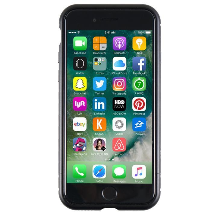 アルミバンパー Round Fit マットブラック iPhone 7