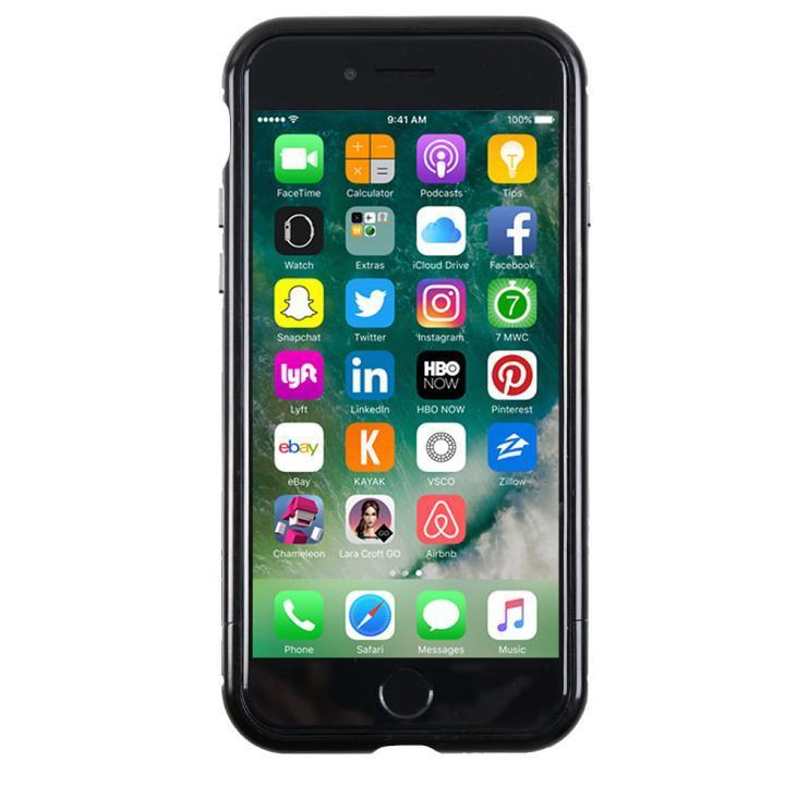 【iPhone7ケース】アルミバンパー Round Fit ジェットブラック iPhone 7_0