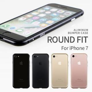 【iPhone7ケース】アルミバンパー Round Fit マットブラック iPhone 7_6