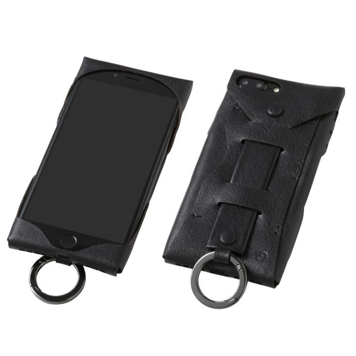 Deff Baseball レザーケース Gloves ブラック iPhone 8 Plus/7 Plus