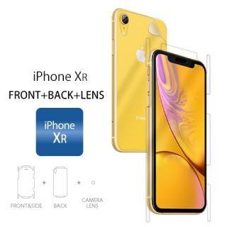 iPhone XR フィルム Wrapsol ULTRA (ラプソル ウルトラ) 衝撃吸収フィルム 全面保護 (液晶面+背面&側面+カメラレンズ)  iPhone XR