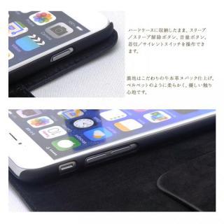 【iPhone6ケース】最高級革 コードバン 手帳型ケース ブラック iPhone 6_2