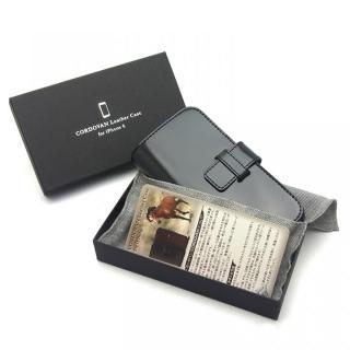【iPhone6ケース】最高級革 コードバン 手帳型ケース ブラック iPhone 6_4