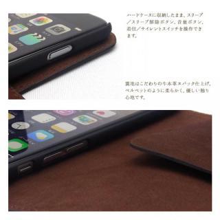 【iPhone6ケース】最高級革 コードバン 手帳型ケース ブラウン iPhone 6_2