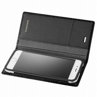 GRAMAS クロコダイル型押しフルレザー手帳型ケース ブラック iPhone 6