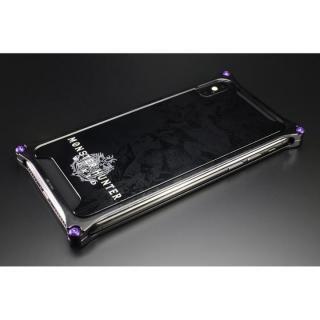 MONSTER HUNTER: WORLD ソリッドバンパー&背面アルミパネル ネルギガンテ ブラック iPhone X