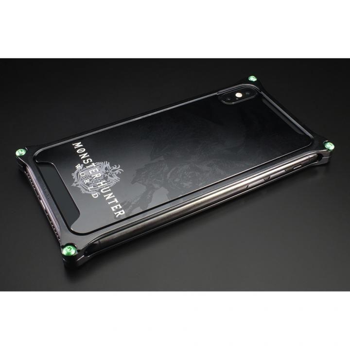 MONSTER HUNTER: WORLD ソリッドバンパー&背面アルミパネル リオレウス ブラック iPhone X