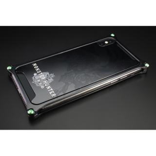 iPhone XS/X ケース MONSTER HUNTER: WORLD ソリッドバンパー&背面アルミパネル リオレウス ブラック iPhone XS/X