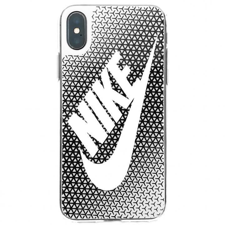 【iPhone Xケース】NIKE グラフィック Swoosh ブラック/ホワイト iPhone X_0
