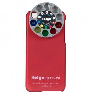 カメラフィルター搭載ケース HOLGA アートエフェクター レッド iPhone 6