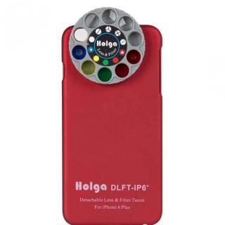 カメラフィルター搭載ケース HOLGA アートエフェクター レッド iPhone 6 Plus