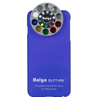 カメラフィルター搭載ケース HOLGA アートエフェクター ブルー iPhone 6 Plus