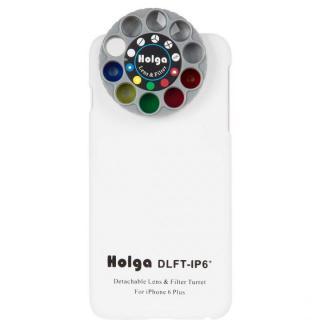 カメラフィルター搭載ケース HOLGA アートエフェクター ホワイト iPhone 6 Plus