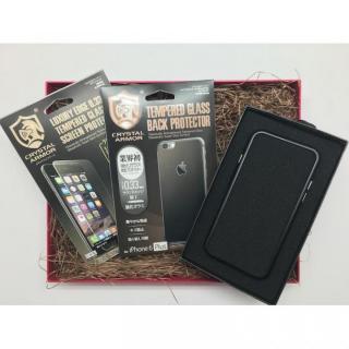 【iPhone6s Plus/6 Plusケース】[数量限定]クリスタルアーマー ギフトボックスセット ブラック iPhone 6s Plus/6 Plus