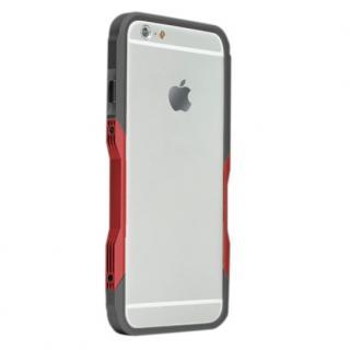 【iPhone6ケース】飽きることのないデザイン GRAVITY CASTRUM ブラック×レッド iPhone 6バンパー_1