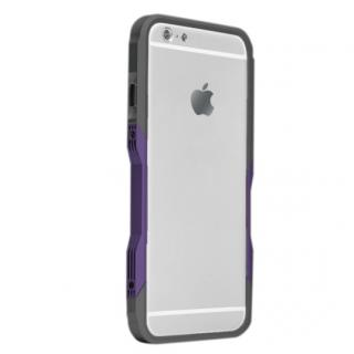 【iPhone6ケース】飽きることのないデザイン GRAVITY CASTRUM ブラック×パープル iPhone 6バンパー_1