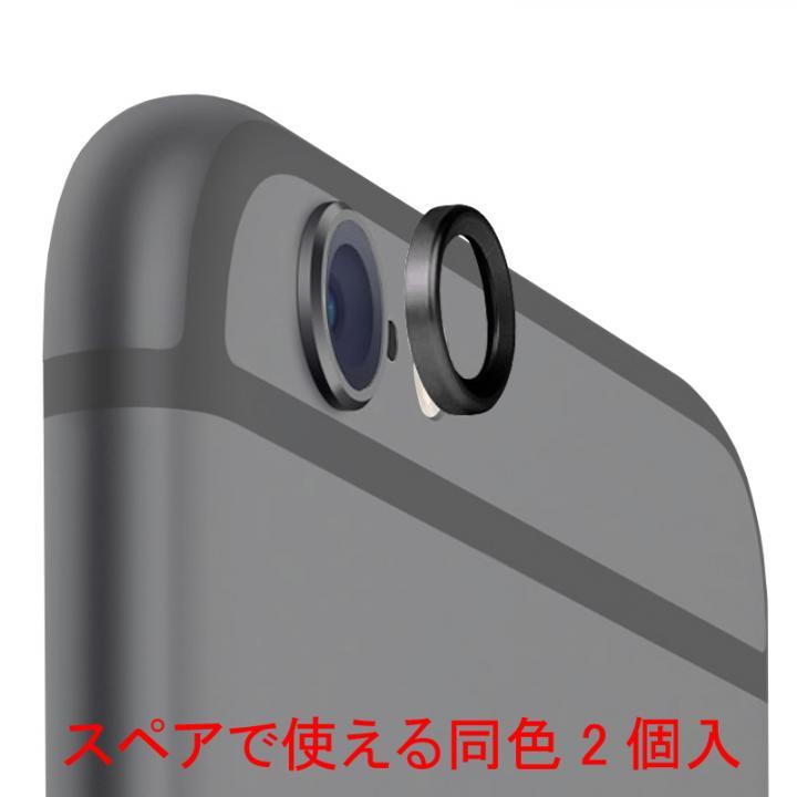 [2個入]truffol Aluminium Lens Guard ブラック iPhone 6s/6_0