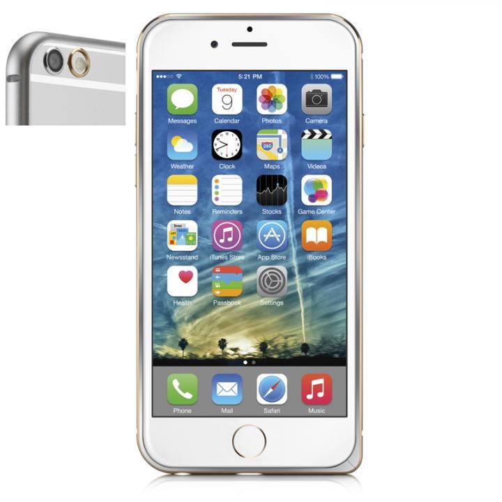 超軽量7gアルミバンパー ibacks Essence Bumper カメラレンズガード付 シルバー iPhone 6