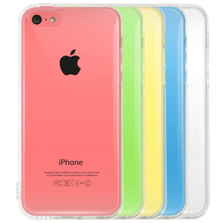 Highend Berryオリジナル クリア ソフトTPU iPhone5cケースストラップホール&保護キャップ付き
