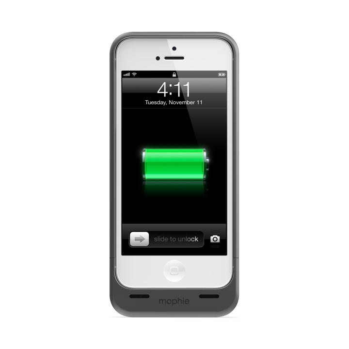 【iPhone SE/5s/5ケース】バッテリー内蔵ケース mophie juice pack ダークメタリック iPhone SE/5s/5ケース_0