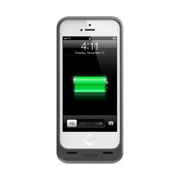 バッテリー内蔵ケース mophie juice pack ダークメタリック iPhone SE/5s/5ケース