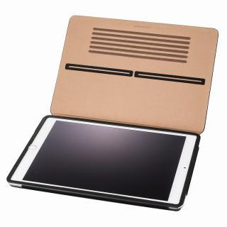 GRAMAS レザー手帳型ケース ブラック iPad Air 2