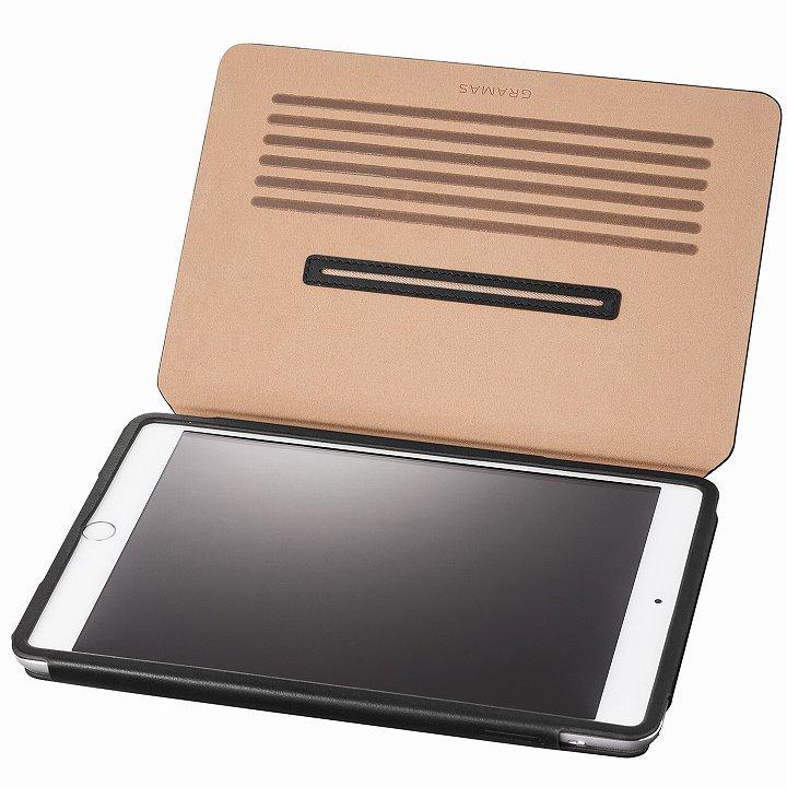 GRAMAS レザー手帳型ケース ブラック iPad mini /2/3_0
